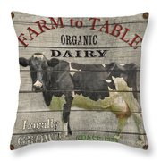 Farm To Table Dairy-jp2629 Throw Pillow