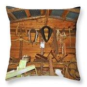 Farm Tools Throw Pillow