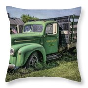 Farm Truck Throw Pillow