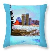 Farm Up Yander Throw Pillow