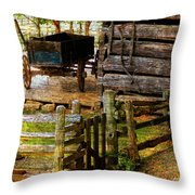 Farm Wagon Throw Pillow