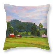 Farm, Washington County Throw Pillow