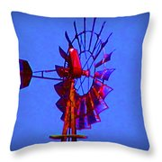 Farm Windmill Throw Pillow
