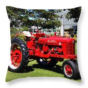 Farmall At The Country Fair Throw Pillow by Andrew Pacheco