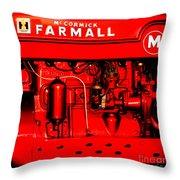 Farmall Engine Detail Throw Pillow