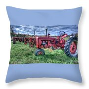 Farmall Graveyard Throw Pillow