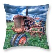 Farmall Red Throw Pillow