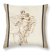 Farmer Girl Throw Pillow