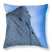 Farmers Grain Elevator, Power, Montana Throw Pillow