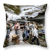 Farmer's Market 3 Throw Pillow