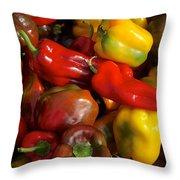 Farmers Market Bounty Throw Pillow