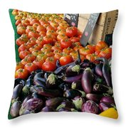 Farmers' Market Colors Throw Pillow