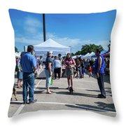 Farmers Market Meetings Throw Pillow