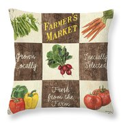 Farmer's Market Patch Throw Pillow