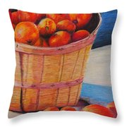 Farmers Market Produce Throw Pillow by Nadine Rippelmeyer