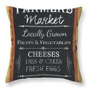 Farmer's Market Signs Throw Pillow