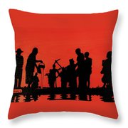 Farmers Night Out Throw Pillow