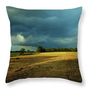 Farmers Race Against The Weather Frankenmuth Michigan Throw Pillow