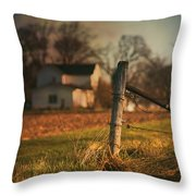 Farmhouse And Fence Post Throw Pillow