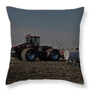 Farming April In The Field On The Case 500 Pa Throw Pillow