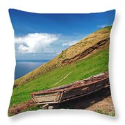 Farming In Azores Islands Throw Pillow