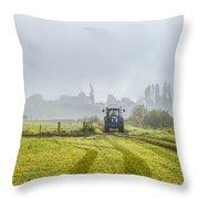 Farming In Clackmannan Throw Pillow