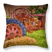 Farming In Hanksville Utah Throw Pillow