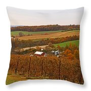 Farming In The Valley Throw Pillow