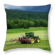 Farming New York State Before The July Storm 02 Throw Pillow