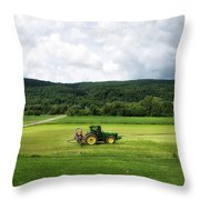 Farming New York State Before The July Storm 03 Throw Pillow