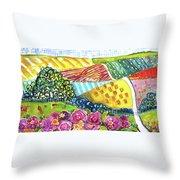 Farming Patterns Throw Pillow