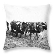 Farming: Ploughing, C1930 Throw Pillow
