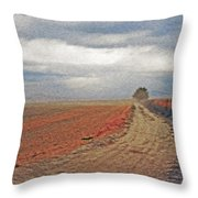 Farmland 3 Throw Pillow