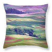 Farmland Colors - No. 1 Throw Pillow