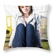 Farmland Female  Throw Pillow