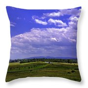 Farmland In Gettysburg Version II Throw Pillow