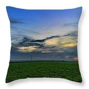 Farmland Panorama Throw Pillow