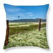Farmland Scenery Throw Pillow