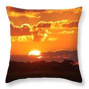 Farmland Sunset Throw Pillow