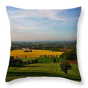 Farmland View Throw Pillow