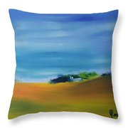 Farms And Rolling Hills  Throw Pillow