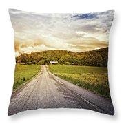 Farmstead Drive Throw Pillow