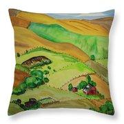 Farmville Throw Pillow
