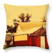 Farmyard Throw Pillow