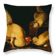 Farmyard Fowls Throw Pillow