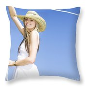 Farmyard Life Throw Pillow