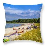Faro Beach Throw Pillow