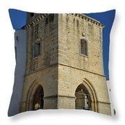 Faro Main Church Bells Tower Throw Pillow