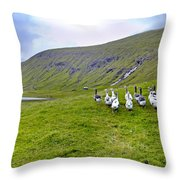 Faroes Geese Throw Pillow