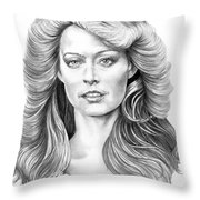 Farrah Fawcett Throw Pillow
